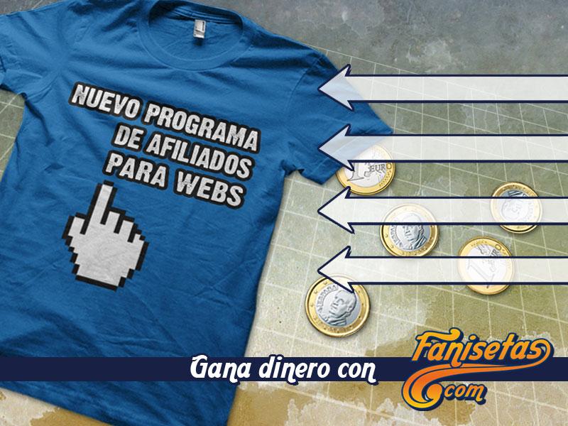 Gana comisiones por ventas en Fanisetas.Com