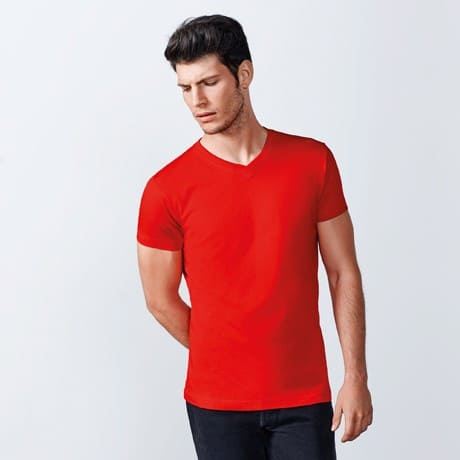 Men T-Shirt - V Neck (cm):