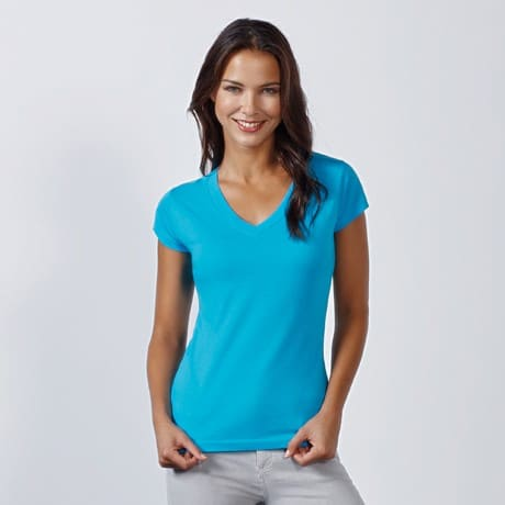 Women T-Shirt - V Neck (cm):